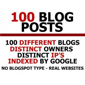 100 blog posts on different blogs