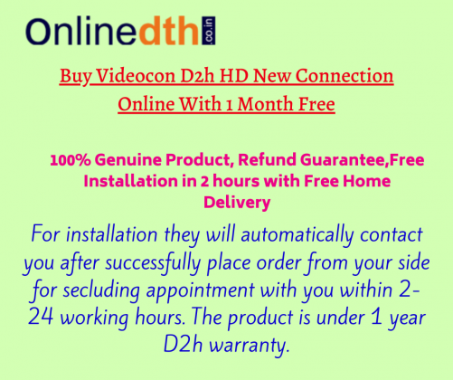 Videocon d2h new connection PLANS & PACKAGES with price