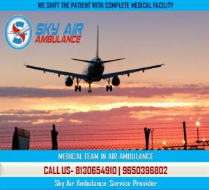 Get all Important Medical Facility in Sky Air Ambulance from Patna