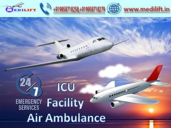 Hire Medical Emergency Air Ambulance Service in Indore with ICU