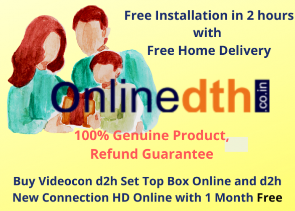 Videocon d2h Set Top Box online | d2h new connection