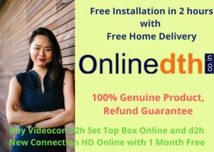 Videocon d2h new connection set top box online