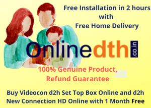 Videocon d2h Set Top Box online | d2h new connection