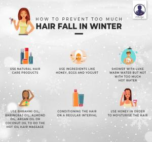 How to prevent too much hair fall in winter